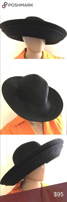 AUTHENTIC $400 PATRICIA UNDERWOOD DOUBLE BRIM HAT Authentic $400 PATRICIA UNDERWOOD SOLD OUT Extra Large DOUBLE brimmed and extremely chic!!!  not an issue to mention. Very hard to find with the double brim.    can be folded for packing / shipping - Flexible material. patricia underwood Accessories Hats