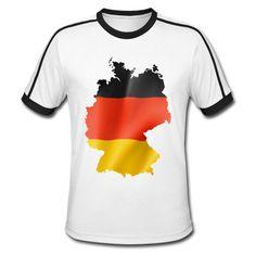 Zeige, wo du her kommst...Deutsche Flagge in einer Deutschlandkarte eingepasst.