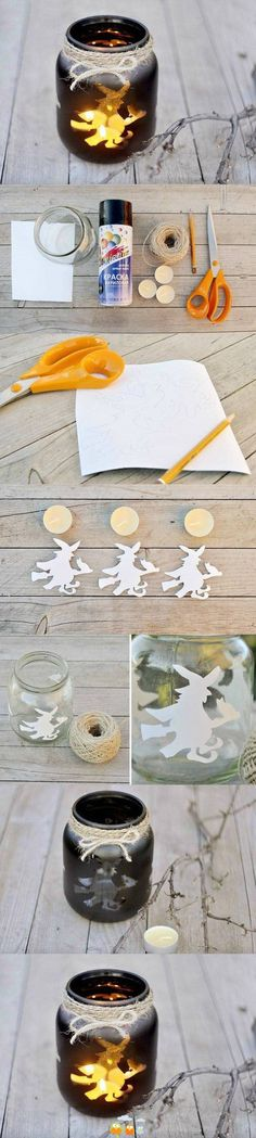 wax a piece of paper to the inside of a jar before spray painting... use for a candle holder.
