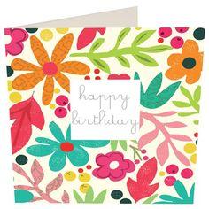 Caroline Gardner floral card