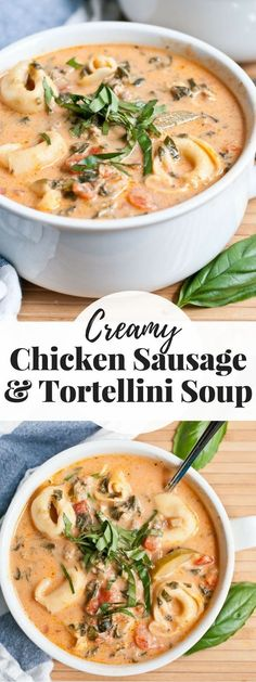 Save this Creamy Chicken Sausage and Tortellini Soup for a cold winter night. Save this Creamy Chicken Sausage and Tortellini Soup for a cold winter night. Sausage Tortellini Soup, Spinach Tortellini Soup, Tortellini Recipes, Spinach Soup, Sausage Soup, Chowder Recipes, Soup Recipes, Cooking Recipes, Recipes Dinner