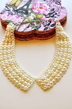 Girl with the Pearls Bib Collar.