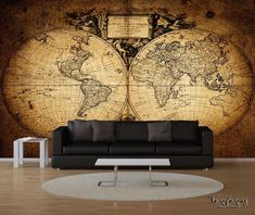 Vintage old world map wall mural Old World Maps, Vintage World Maps, World Map Wall, Wall Murals, Home Decor, Art, Wallpaper Murals, Art Background, Decoration Home