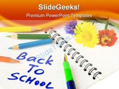 Back To School Education PowerPoint Template 0810 #Templates #Themes #Background