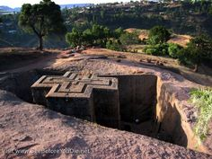 Lalibela Rock Church - World Heritage site in Ethiopia built out of a rock. Not for our purposes but inspirational. Gabriel, Religion, Cultural Experience, Need A Vacation, Architectural Features, Place Of Worship, Africa Travel, Amazing Destinations, World Heritage Sites