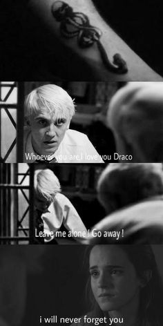 Draco hiding his mark during his relation ship with Hermione but once she saw it she can't face the truth