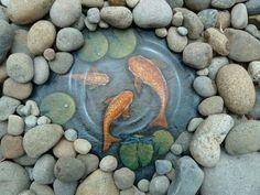 Garden art on Slate