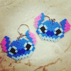Stitch keychain hama beads by whali.beads