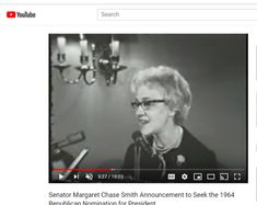 Senator Margaret Chase Smith Announcement to Seek the 1964 Republican Nomination for President National Convention, Political Party, New Hampshire, Change The World, Announcement, Presidents