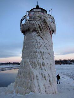 Winter freeze in South Haven, Michigan February 2013.....brrrrrr