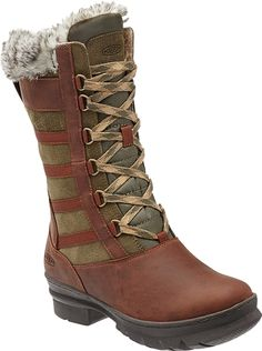 Insulated, waterproof, and soft n fuzzy! KEEN Footwear's Wapato boot.
