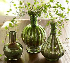 Can't go wrong with this look on your mantle, side table, coffee table, etc....Pottery Barn   #homedecor