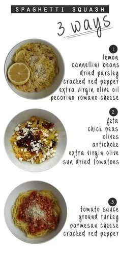 Spaghetti squash 3 ways
