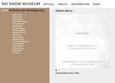 the NO SHOW MUSEUM i