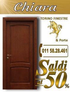 porte interne Chiara torino Turin, Stores, Hand Lettering, Tall Cabinet Storage, Neon Signs, Home Decor, Melamine, Aurora, Solid Wood