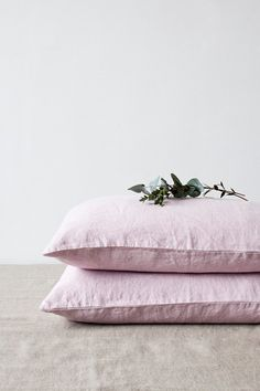 USA Pink Lavender Stone Washed Linen Bed Set by LinenTales on Etsy