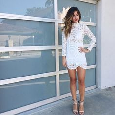 White lace dress Worn for this photo, but also never worn avail. Dresses