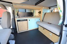 Beautiful bright summer interior...our camper lady B...will look like this.