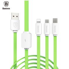 Baseus Sting Series 3in1 8pin Micro Type-C USB Cable Data Sync Charging For iPhone Android For Nexus 5X 6P HTC10 LG G5 Xiaomi 4C