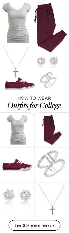 """Untitled #103"" by jprinceceasimpson on Polyvore featuring Wet Seal, Victoria's Secret PINK, Vans and River Island"