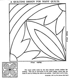 Vintage Hand Quilting Patterns – Q is for Quilter Hand Quilting Patterns, Longarm Quilting, Free Motion Quilting, Machine Quilting, Quilting Designs, Tatting Patterns, Motif Vintage, Vintage Quilts, Vintage Sewing