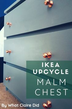 Ikea Hack – Malm Repaint and Upcycle Repainting and upcycling an Ikea Malm unit. More from my site Ikea hack – malm bed Most awesome ikea dresser hack of all time by Katie from My DIY Habits (guest post EASIEST IKEA HACK EVER Painting Ikea Furniture, Ikea Furniture Hacks, Diy Furniture Couch, Upcycled Furniture, Furniture Plans, Furniture Makeover, Painted Furniture, Repainting Furniture, Furniture Design