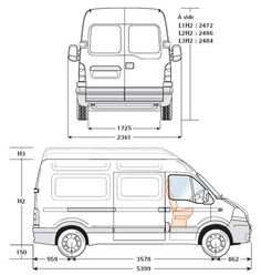 Renault master height