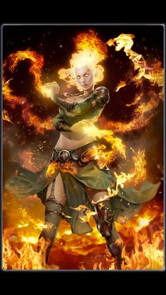 Pyromancer Girl Pyromancers are a branch of elemental mages that specialize in fire