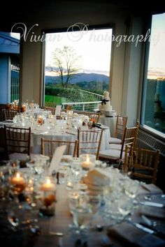 The view from the head table at a truly unique Hudson Valley wedding venue -- The Garrison -- courtesy of Vivian Photography.