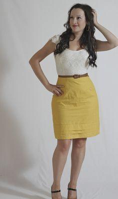 JuliaBobbin: Mustard and Lace Dress + Give Away Winner!!