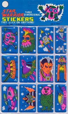 Star Warrior stickers, 1979