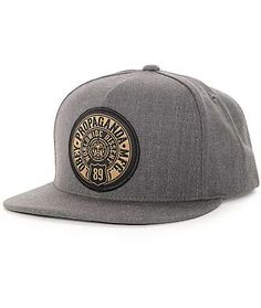 Obey 89 Prop gorra snapback carbón Hat Patches ed6fcc43af1