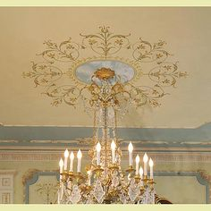 Ceiling Medallion Stencil...too cool!