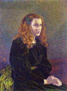 Girl in Green, 1892 - Theo van Rysselberghe
