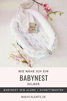 Sewing baby nest with sewing pattern PDF Babynest nähen mit Schnittmuster PDF Sewing baby nest – online sewing lesson with 12 parts Diy Baby Girl Blankets, Easy Baby Blanket, Knitted Baby Blankets, Sewing Projects For Kids, Sewing For Kids, Baby Sewing, Free Sewing, Sew Baby, Crafts For Girls