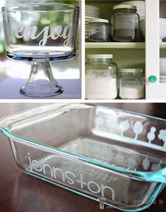 Glass etching using Silhouette Cameo