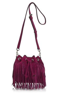 Rebecca Minkoff Mini Fiona Fringe Bucket Crossbody