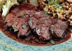 Muscovy Duck Breasts with Pomegranate-Wine Sauce