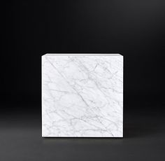 Marble Plinth Cube Side Table 971
