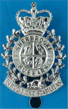 Sherbrooke Hussars Canadian Army Other Ranks' metal cap badge for sale Canadian Army, British Army, Army Hat, Commonwealth, Chrome Plating, Armed Forces, Badges, Soldiers, World War