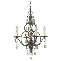 Chateau Convertible Four Light Chandelier Murrayfeiss Candles Without Shades Chandeliers C