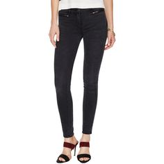 3x1 Wrap Seam Mid Rise Skinny Jean ($99) ❤ liked on Polyvore