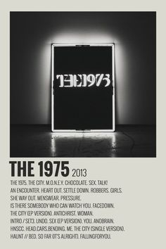 alternative minimalist polaroid poster made by (me) Poster Wall, Poster Prints, Movie Prints, Wall Prints, Poster Collage, Free Prints, The 1975 Poster, The 1975 Album, Vintage Music Posters