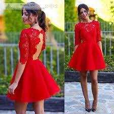 8b5a8f78f Resultado de imagen de como ir vestida a una graduacion de universidad  Vestido Rojo Fiesta Corto