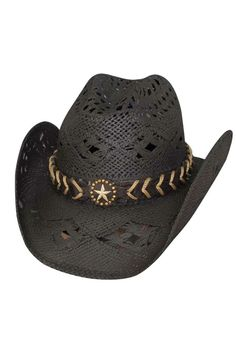 "Bullhide ""Naughty Girl"" Black Straw Cowboy Hat - only $33!"