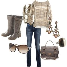 Taupe & Texture ESP love this sweater ...would so love to wear this outfit today!