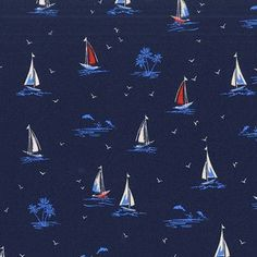 Michael Miller House Designer - Yacht Club - Sail On in Navy
