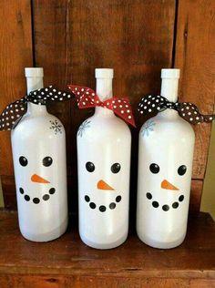 Botellas hombre de nieve
