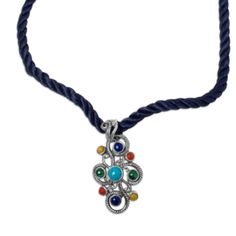 Fiesta Multi-Gemstone Pendant Necklace