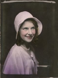 +~ Vintage Photo Booth Picture ~+  Pretty in PInk